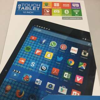 E touch 10.1 tablet