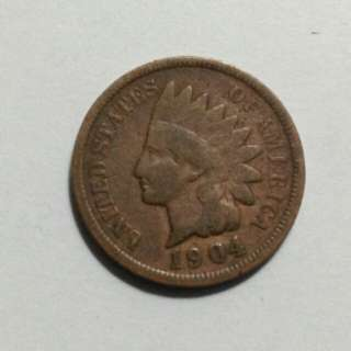 1904 Indian Head Penny (US) Extra Fine Condition