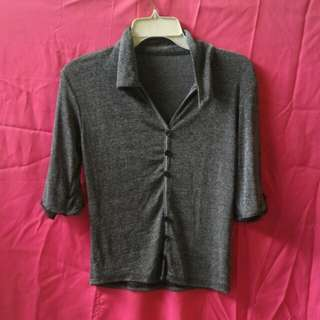 Gray 3/4 Blouse