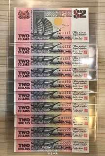 $2 Ship Last Prefix Full Solid Set, Last Prefix Last Million, One & Only ! Last Of The Last.... 111111 - 1000000
