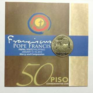 Pope Francis Visit the Philippines 50 Piso Commemorative Coin 2015