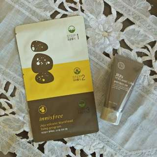 The Face Shop Jeju Volcanic Lava + Innisfree  Jeju Volcanic Blackhead 3 Step Program