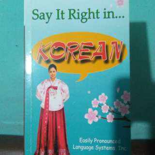 Say It Right In Korean