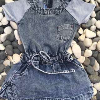Baju Anak perempuan jeans 1th