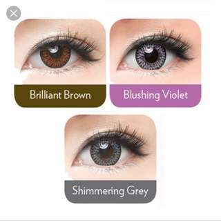 Freshkon Coloured Contact Lens in Blushing Violet & Shimmering Grey