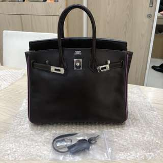 Hermes birkin 25 mult color Raisin