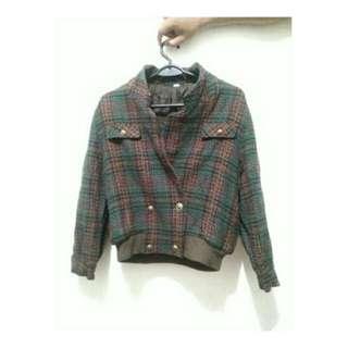 jacket vintage bahan tebal