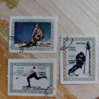 厄瓜多爾郵票冬季奥運動会已銷郵票3枚