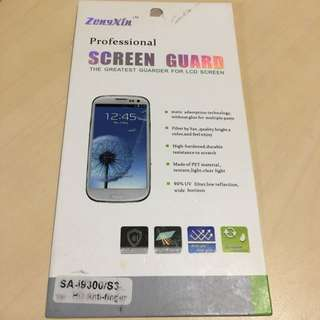 原裝Samsung S3 屏幕保護貼 Zengxin screen guard protector