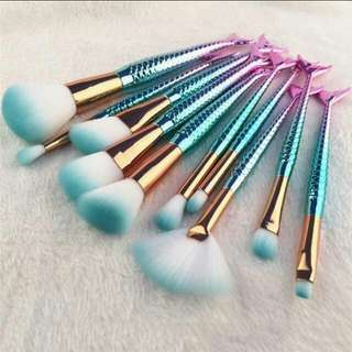 10pcs Unicorn Mermaid Brush Set
