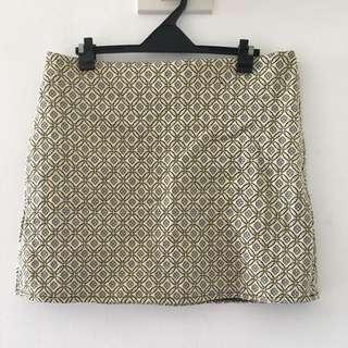 PRIMARK Gold A-Line Skirt