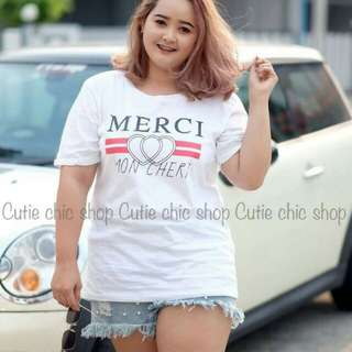 Merci tee plus size