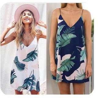 Summer Palm mini dress