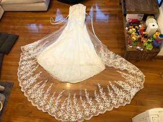 Wedding Dress Mermaid Gown for Pre-wedding or Banquet 魚尾婚紗 拖尾 攝影裙 晚宴裙