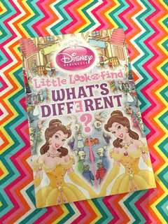 Charity Sale! Little Look and Find What's Different Disney Book