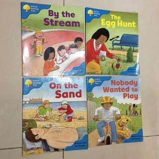 Oxford reading tree-By the stream, The egg hunt, On the sand, Nobody wanted to play (Stage 3 stories)