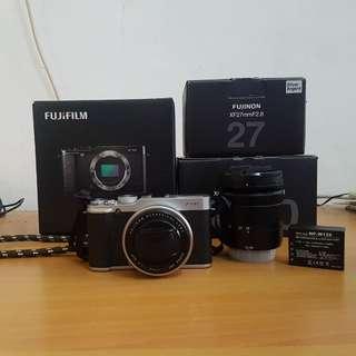 Fujifilm XM-1 Fullset + Kit 16-50 + Fujinon 27mm F2.8