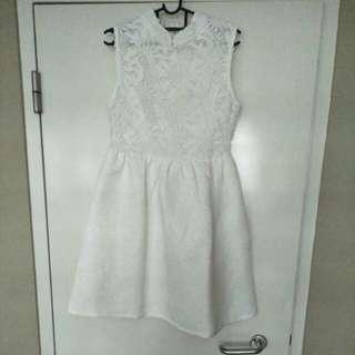White Lace chongshan Dress