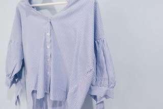 Kemeja stripe blue