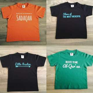 Kids' Tshirt with Islamic quotes