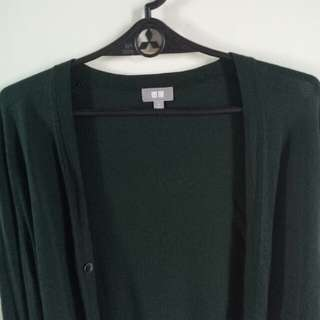 Uniqlo Cardigan Dark Green