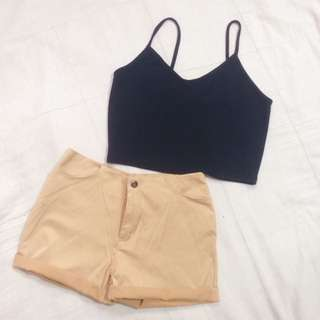 Preloved top and short