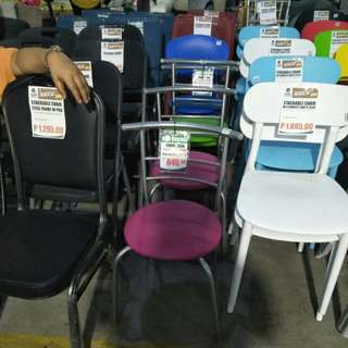 Plastic steel frame chair