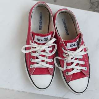 Red Converse All Star Sneaker Shoes
