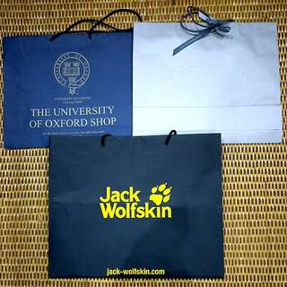 Branded original large paperbags university of oxford, jack wolfskin #CNY88