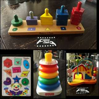 Lot of 4 EDUCATIONAL TOYS from various brands.