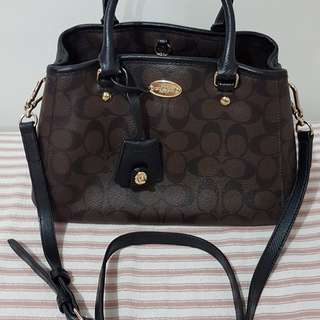 Authentic Coach Signature Small Margo Carryall