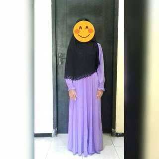 Dress jersey ungu