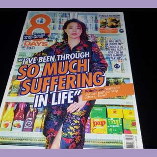 8days issue Number 1411 Nov 2 2017 Belinda Lee on Cover pg (Very Touching Interview)