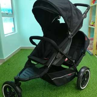 Phil and Ted's tandem twin stroller