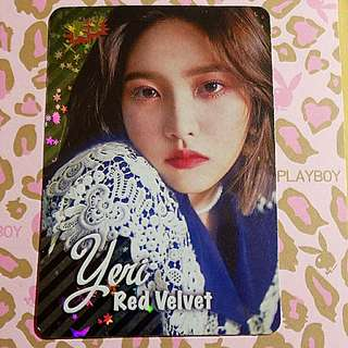 Red Velvet Yeri Yes card