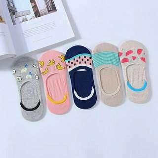 5 Pairs Low Anti-Skid Socks