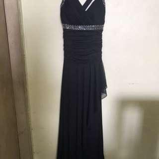 Black long gown by morgan n company