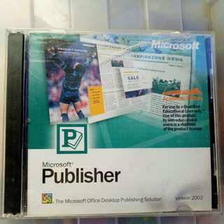 Original Microsoft publisher 2002 CD