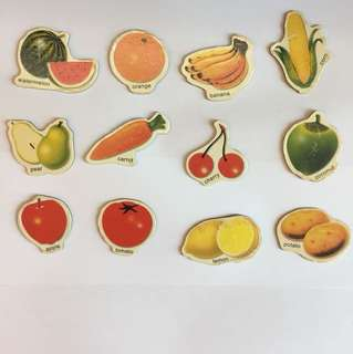 Magnetic fruits and veggies
