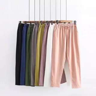 (XL~4XL) Cotton and linen pants leggings Harlan pants loose large size pants casual pants collapse pants