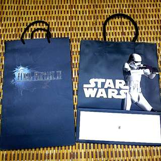 Original merchandise paperbag final fantasy xv, star wars #CNY88