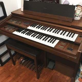 Yamaha Wooden Electone 52 Key Electronic Organ Piano
