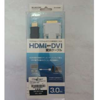 *Final Offer* HDMI to DVI adapter cable (3 meter)