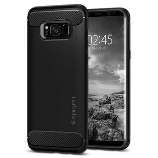 Spigen Rugged Armor Case with Carbon Fiber Design for Samsung Galaxy S8 and S8+ / S8 Plus