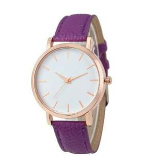 Women's Leather Fashion Watch