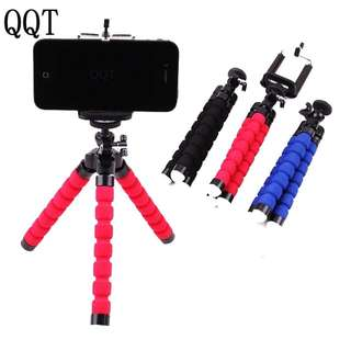 Preorder: QQT Flexible Octopus Sponge Tripod for iPhone Samsung Xiaomi Huawei Mobile Phone Smartphone Tripod for Gopro DSLR Mount Camera