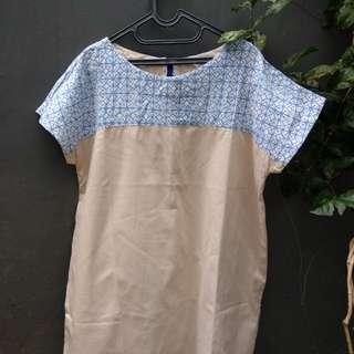 Big Size Batik Dress Modifikasi