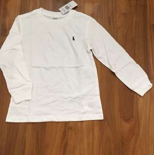 BNWT Ralph Lauren White Long Sleeve T 5 years