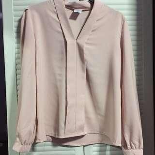 Light Pink Chiffon Blouse
