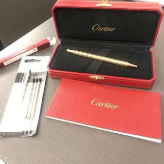 Cartier 玫瑰金 筆